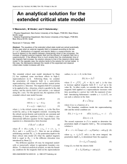 An analytical solution for the extended critical state model