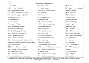 Approved Abbreviations