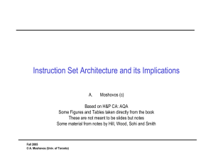 Instruction Set Architecture and its Implications