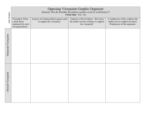 Opposing Viewpoints Graphic Organizer