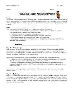 Argumentative essay assignment doc