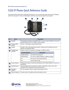 Mitel 8528 Telephone User Guide