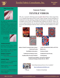 test newsletter - Textile Fabric Consultants, Inc.
