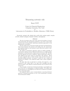 Measuring systemic risk