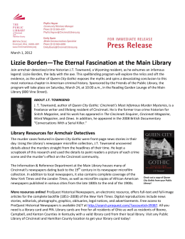 Lizzie Borden—The Eternal Fascination at the Main Library