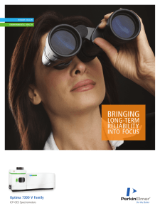 Optima 7300 V ICP-OES Spectrometers Brochure