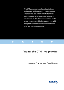Putting the CTBT into practice