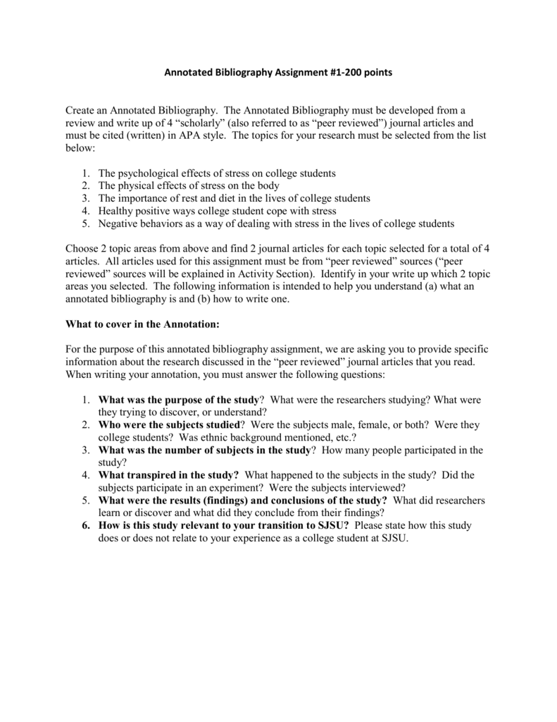 Thesis Statement Narrative Essay  Example Of Thesis Statement For Argumentative Essay also Reasons To Go To College Essay Annotated Bibliography Assignment  Points What Is Literature Essay