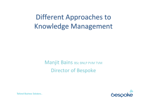 Different Approaches to Knowledge Management