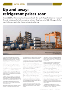 Up and away: refrigerant prices soar