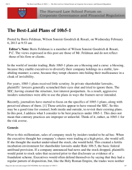 The Best-Laid Plans of 10b5-1
