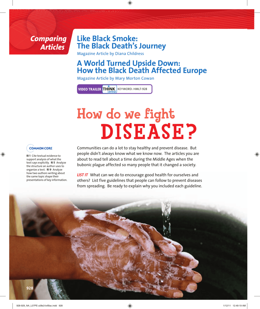 black death worksheet answers