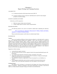 Laboratory 1 Report Writing And Teaming Exercises