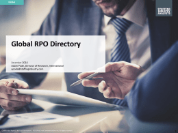 Global RPO Directory - Staffing Industry Analysts