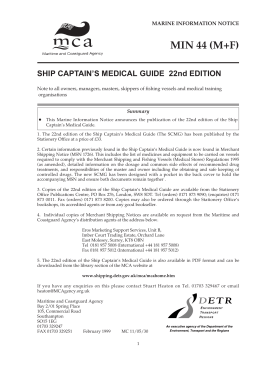 Ship Captain's Medical Guide - 22nd Ed