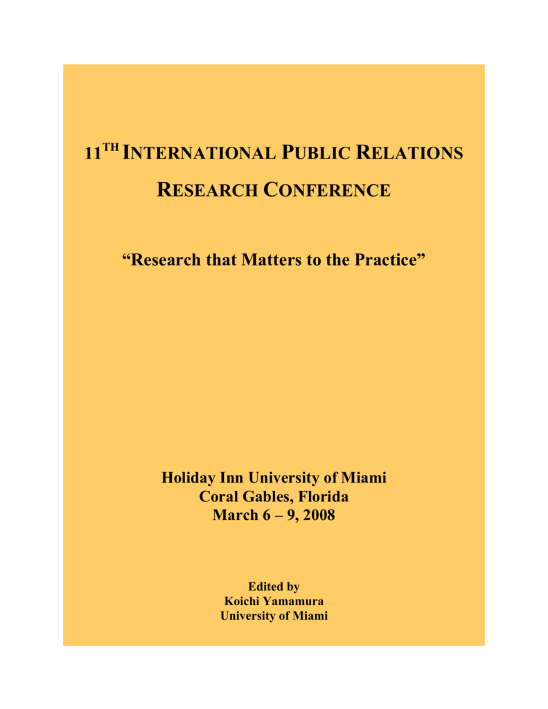 11th Annual International Public Relations Research Conference
