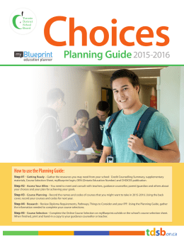 Choices 2015–2016 - Toronto District School Board
