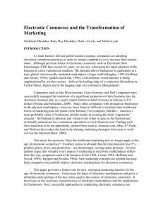 Electronic Commerce and the Transformation of Marketing