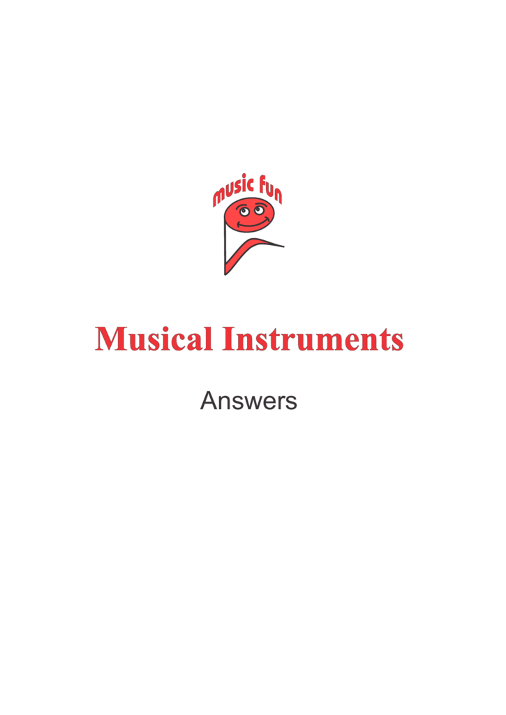 Musical Instruments Music Fun Worksheets