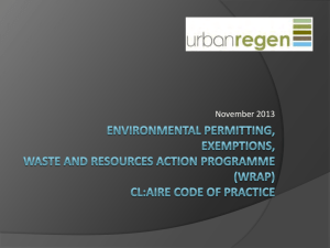 Environmental Permits and Exemptions