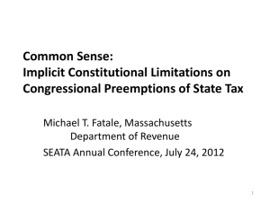 Common Sense: Implicit Constitutional Limitations on