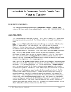 Notes to Teacher - Better Classroom Guidebooks