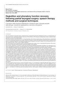 Deglutition and phonatory function recovery following partial