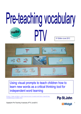 Using visual prompts to teach children how to learn new words as a