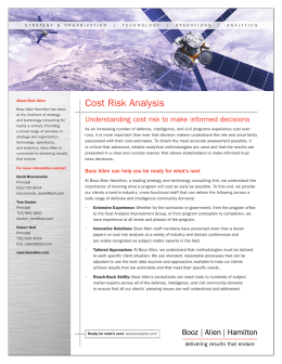 Cost Risk Analysis - Booz Allen Hamilton