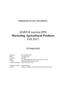 Marketing Agricultural Products - William H. Darr School of Agriculture