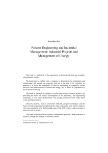 Process Engineering and Industrial Management: Industrial Projects
