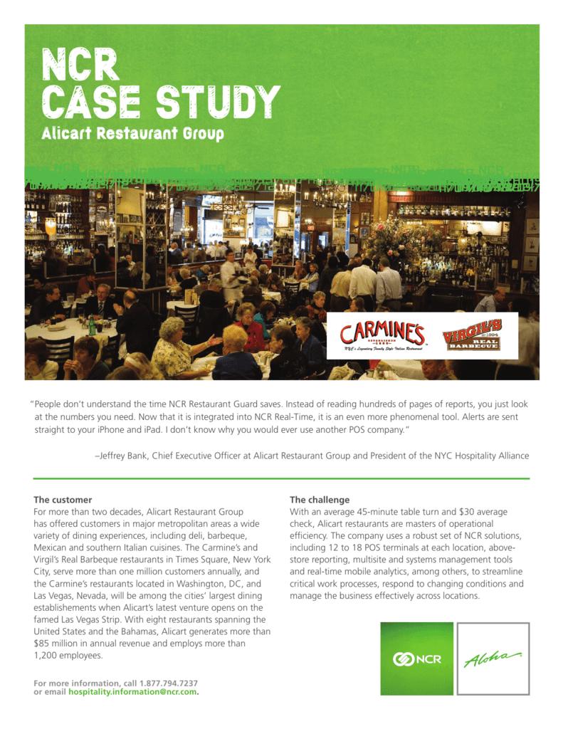 NCR CASE STUDY