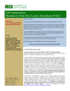 Section 23 - USF Office of Graduate Studies