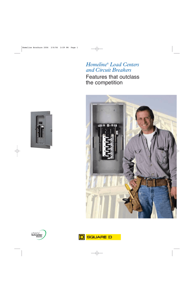 Homeline® Load Centers and Circuit Breakers on