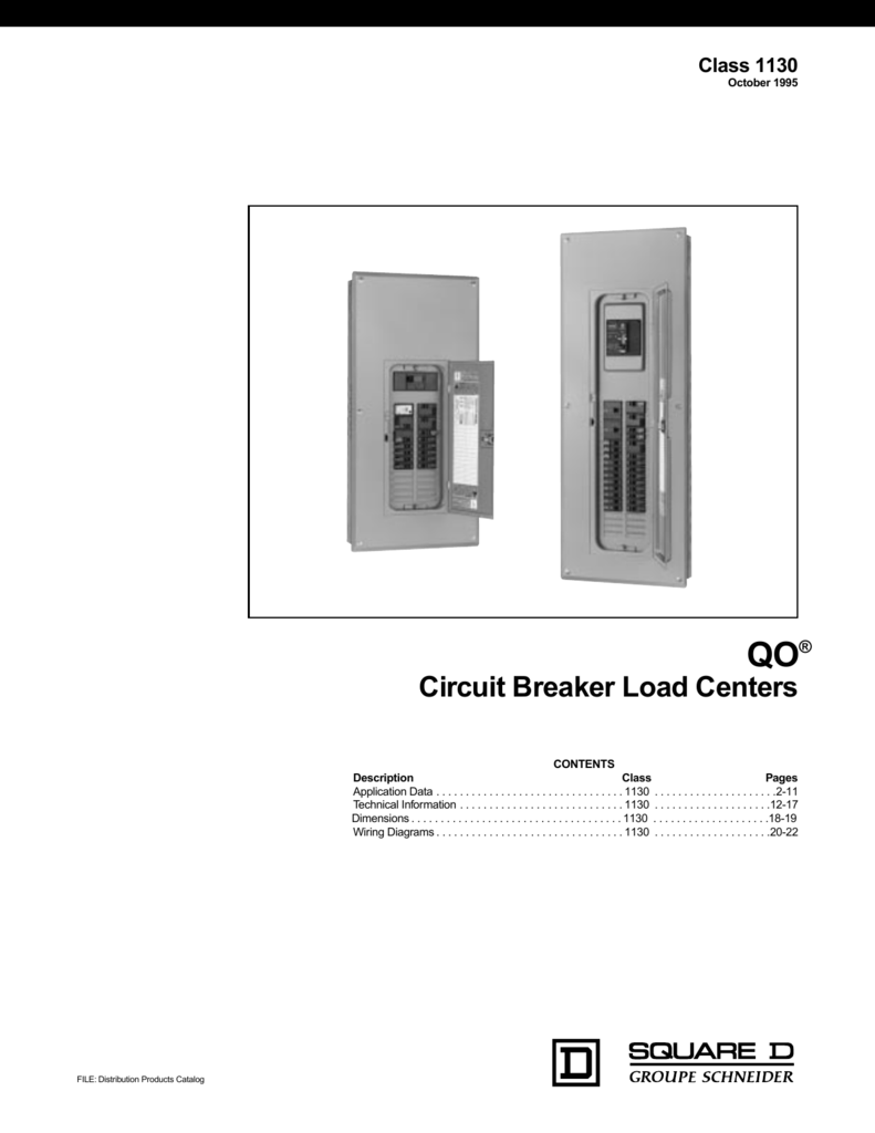 Circuit Breaker Load Centers Center Wiring Diagram