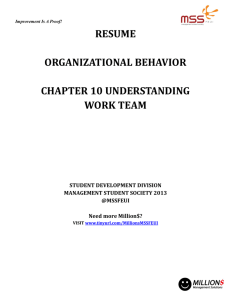 RESUME ORGANIZATIONAL BEHAVIOR CHAPTER 10