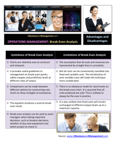 OPERATIONS MANAGEMENT: Break-Even Analysis Advantages