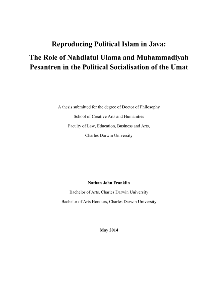 Reproducing political islam in java the role of altavistaventures Image collections