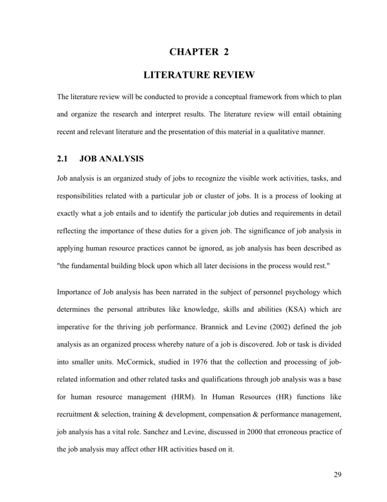 chapter 2 literature review - Higher Education Commission