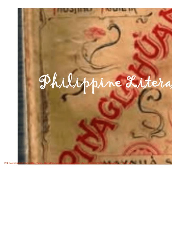philippine literature definition