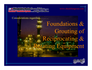Foundations & Grouting of Reciprocating & Rotating Equipment
