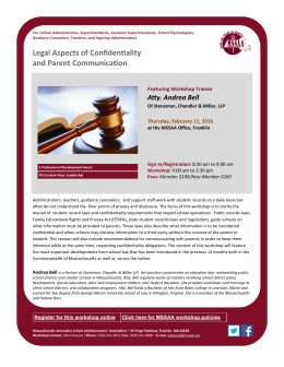 Legal Aspects of Confidentiality and Parent Communication