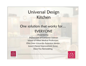 Universal Design Kitchen - Family and Consumer Sciences