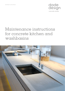 Maintenance instructions for concrete kitchen and