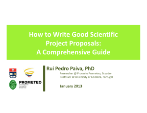 How to Write Good Scientific How to Write Good Scientific Project