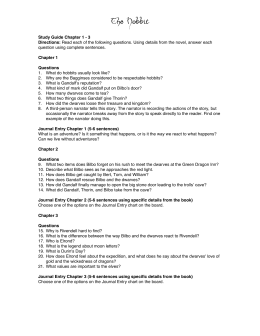 The Hobbit Study Guide Ch 1