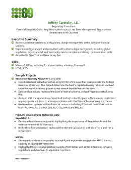 jeff caretsky's cv