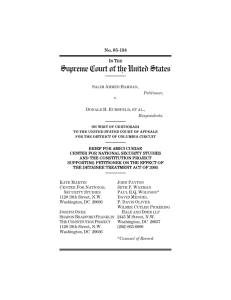Amicus Brief - Center for National Security Studies