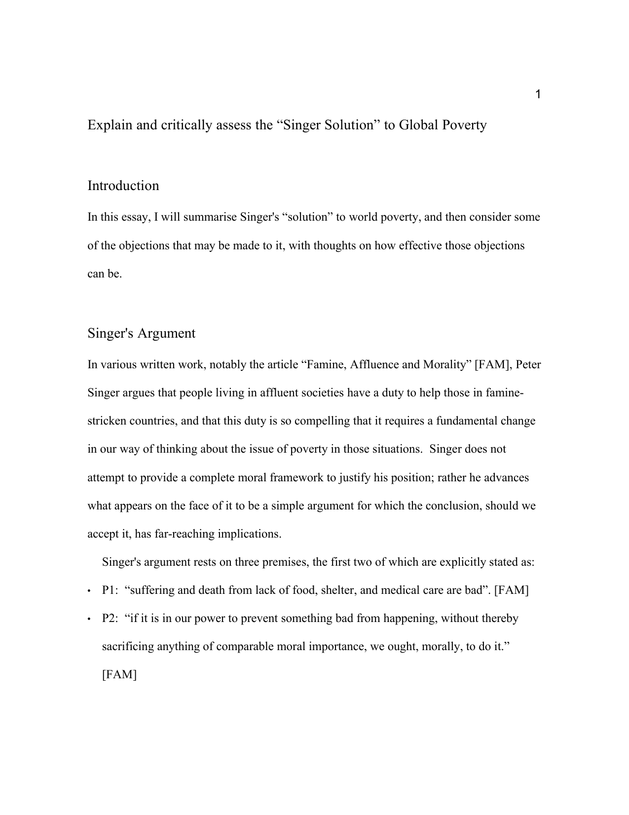 English Literature Essay Structure  Essay On English Literature also Good English Essays Examples Explain And Critically Assess The Singer Solution To Global Poverty English Essay Websites