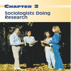 Sociology and You Chapter 2 - Research - Hatboro